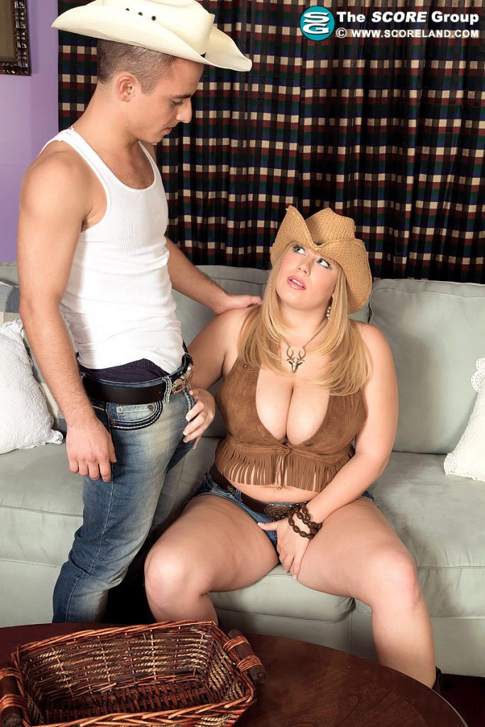 Hot naked cowboys having sex with women — 5